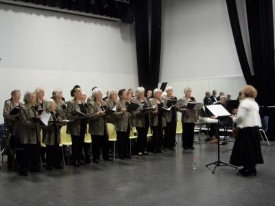 Een foto van zingende mensen in het koor Zingen Houdt Jong.